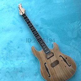 Wholesale Rosewood Neck - wholesale Hot!!! The connection mahogany body, mahogany neck and rosewood back through, hollow electric guitar semi free shipping