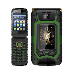 Wholesale Dual Sim Card Flip Phones - Dual Screen land flip phone Rover X9 1500mAh Dual SIM One-key Dial And Call Mobile Phone One Touch Screen Russian Keyboard