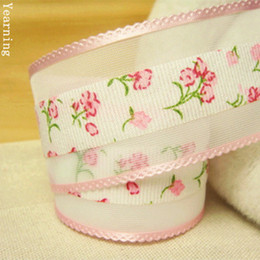 Wholesale tape for fabric - Width 38mm Craft Fabric Tape Flower Organza Ribbon for DIY Headwear Wedding Party Festive Event Decoration Gift Wrap zd067