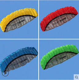 Wholesale Free Surfing - Free Shipping kitesurfing kite 2.5m Dual Line 4 Colors Parafoil Parachute Sports Beach Kite Easy to Giant Fly Kite for Surfing