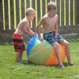 Wholesale Smash Toys Wholesale - Inflatable Ball Spray Water Ball Children Summer Outdoor Swimming Beach Pool Play The Lawn Balls Playing Smash It Toys 60cm 75cm