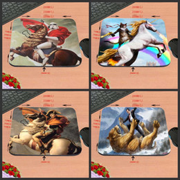 Wholesale Horse Custom - And Wild Horse Figure Antiskid Custom Rectangular Mouse Pad Computer Computer Games To Decorate Your Desk Design As A Gift