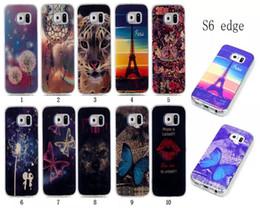 Wholesale galaxy s4 case cartoon - Blu-ray Soft TPU Case For Samsung Galaxy S3 S4 S5 S6 edge plus S7 edge Dreamcatcher Effiel Tower Beautiful Cartoon Butterfly Dog Tiger