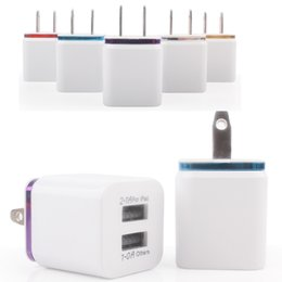 Wholesale Iphone Home Travel Charger - 2017 Hot 1A 2.1A Dual Double USB Port US Plug Home Travel Charger Power Adapter For iPad iphone 6S 7 Plus Smartphone