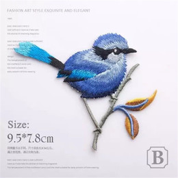 Wholesale Embroidery For Dress Accessory - 2017 Birds Patch Embroidery Iron On Patches For Clothes Dresses DIY Accessory