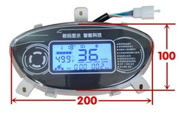 Wholesale Motorcycle Display - 12-110v LCD display speedometer universal instrument for electric scooter motorcycle ATV voltage battery level indicator odmeter