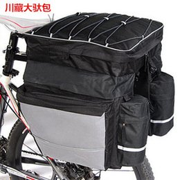 Wholesale Bicycle Carrying Bags - Wholesale- The new 2016 triad bicycle double carry bag Shelf package mountain ride a tra nsport grants cover cycling equipment