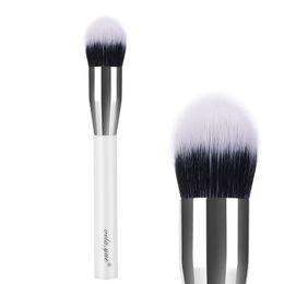 Wholesale Taper Tools - vela.yue Duo Fibre Face Stipple Brush Multipurpose Tapered Flat Makeup Brush For Face Powder Blush Foundation Makeup Tool