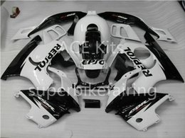 Wholesale 97 Cbr Fairings - 3 free gifts For Honda CBR600F3 97 98 CBR 600F3 CBR600 1997 1998 ABS Motorcycle fairing Black White AA15