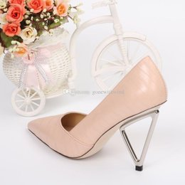 Wholesale High Heeled Wedge Bridal Shoes - 2017 new arrival pink white grey burgundy cowskin wedge bridal wedding shoes with rose Slip-On high heel pumps evening party prom shoes