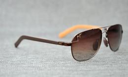 Wholesale Mj Cases - Brand Designer-2017 Maui Jim Sunglasses MJ326 Breakwall sunglasses Rimless lens men women TR sunglasses driving Aviator MJ SPROT with case