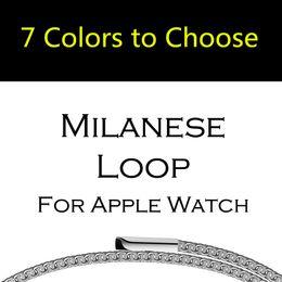 Wholesale Loop Bracelets - Milanese Loop Strap & Link Bracelet Stainless Steel band For Apple Watch band Series 1 2 42mm 38mm Bracelet Belt mesh wristband for iwatch
