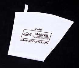 2019 consejos para bolsas de repostería Sin fugas Pastry Cotton Bag longitud 40cm Crema reutilizable Pastry Bags Cake Decorating Tool Crema Apretón Tips consejos para bolsas de repostería baratos