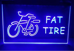 Wholesale Lighted Tire Signs - fat tire logo new Sale beer bar pub LED Neon Light Sign home decor crafts