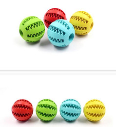 Wholesale Hot Dogs Food - Hot Pet Dog Toy Rubber Ball Toy Funning Light Green ABS Pet Toys Ball Dog Chew Toys Tooth Cleaning Balls of Food 4.8cm