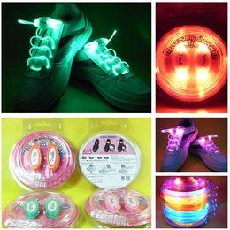 Wholesale Disco Boys - 10pcs (2pcs=1pair)Boys Girls Kids Light Up LED Shoelaces Flash Party Disco Shoe Laces Shoe Strings Free Drop shipping Stock