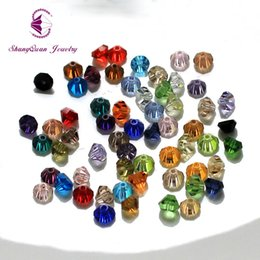 Wholesale Crystals Glass Tower - AAA quality Tower shape Austrian crystal beads half bicone loose bead glass ball 6mm 200pcs supply bracelet Jewelry DIY