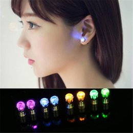 Wholesale Drop Earring Supplies - fashion LED Earrings Glowing Light Up Crown earring Ear Drop Pendant Stud earrings Stainless jewelry for women girls party supplies