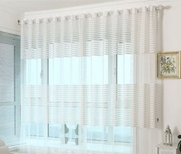 Wholesale Grommet Kitchen Curtains - Modern style voile Tulle Sheer Curtains For Living Room Balcony Kitchen Drapes voile tulle curtain for windows
