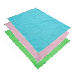 Wholesale Wholesale Yoga Towels - Sand Free Mat Blanket Camping Mat Outdoor Picnic Foldable Mattress Camping Cushion Beach Mat 120*150cm Polyester Bath Towel Yoga