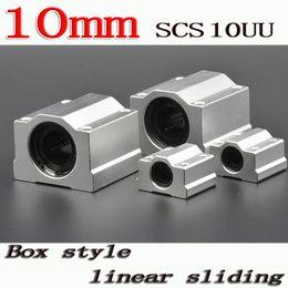 Wholesale Linear Blocks - Wholesale- 1pcs lot SC10UU SCS10UU Linear motion ball bearings slide block bushing for 10mm linear shaft guide rail CNC parts