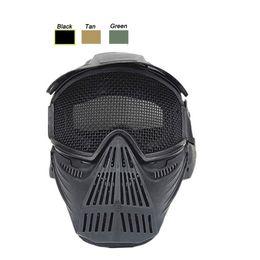 Equipement de sport en plein air Airsoft Tir Masque De Protection Du Visage En Métal En Acier Treillis Métallique Masque Tactique Airsoft Masque ? partir de fabricateur