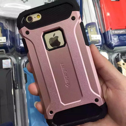 Wholesale Iphone Battery Case Pcs - Dual Layer Armor TPU PC Hard Hybrid Tough Hockproof Cover Case for Iphone X 8 7 7plus 6s 6splus Samsung Note8 S6 S7 S7 edge