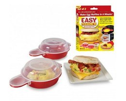 Wholesale Microwave Eggs - Brand New Easy Eggwich Microwave Egg Cookers Pan Set Of 2 Per Box With Retail Packing