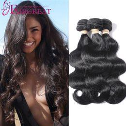 Wholesale Cheap 26 Inch Hair Weave - 3Bundles Brazilian Body Wave Hair Weave Bundles Unprocessed Brazilian Human Hair Extensions Cheap Brazilian Body Wave Human Hair Weaves