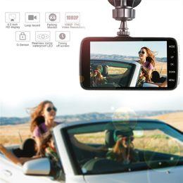 "Wholesale Car Black Box Dual Lens - 2017New 4"" Mini Car DVR Dual Lens Video Recorder Parking Car Camera Full HD 1080P WDR Dash Cam Night Vision Auto Black Box"