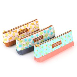 Wholesale Anime Pencils - Wholesale-Cute and Kawaii School Fabric Pencil Case For Teen Girls and Boys Leather Anime Makeup Pen Pouch Box Bag 2016 Gift Deli3085