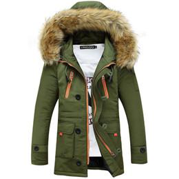 Giacca tattica da windbreaker online-All'ingrosso- 2016 Cappotto con cappuccio in pelliccia da uomo invernale giacca casual Tattico Army Coat Marca maschio felpa giacca a vento impermeabile più il formato