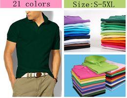 Wholesale Mens Logo Shirts - Hot Sale 2017 New Polo Shirt Men High Quality Crocodile Embroidery LOGO Big Size S-5XL Short Sleeve Summer Casual Cotton Polo Shirts Mens