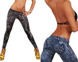 Wholesale Leggings Leopard Animal Print - Wholesale- Womens Leopard Leggings Sexy Fashion Seamless Printed Leggins Slim Jeggings Fitness Pants 2017