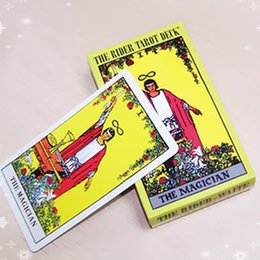 """Wholesale family board games new - Full English """"The Rider Tarot Deck"""" Board Game 78+2 PCS Set New Design Cards GameEnglish Edition Tarot Board Game For Family Friends"""