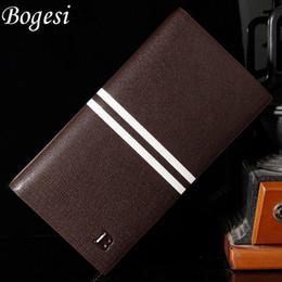 Wholesale Man Thin Wallet - new 2017 men wallets brand mens long thin wallet male money purses with Flip up Window thin long korean purse 383-8-C
