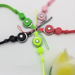 Wholesale Fashion Camera Straps - Fashion Cell phone flat lanyards neck strap detachable lanyard necklace with 11 colors for cell phone mp3 mp4 camera id card