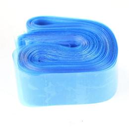 Wholesale Tattoo Machine Boxes - 100pcs Disposable Hygiene Tattoo Clip Cord Bag Plastic Blue Tattoo Machine Clip Cord Sleeve Cover Bag No Box Packaging