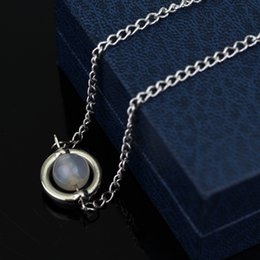 Wholesale Moonlight Jewelry - Movie Twilight Long Chain Necklace Symbol Trinket Bella's and Moonlight Stone Pendant Necklace Jewelry Accessory Wholesale