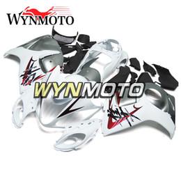 Wholesale Hayabusa Fairing White Silver - Complete White Silver Fairing Kits For Suzuki GSX R1300 GSXR1300 Hayabusa 2008 - 2015 09 10 11 12 13 14 Motorbike Fairings Body Frames