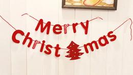 Papier wimpel banner online-Neues Design Weihnachtsdekoration Banner Frohe Weihnachten Buchstaben Wimpel Flagge Home Party Bunte Papier Geschenk Dekorative Schlafzimmer