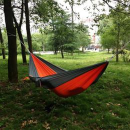cores hammock atacado Desconto Atacado-portátil ao ar livre viajar Camping Parachute Nylon Tecido Hammock para duas pessoas 8 cores -39