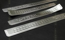 Wholesale Nissan Door Sills - High quality stainess steel 4external car door sills scuff footplate,threshold decoration protection plate for Nissan X-trail 2014-2016