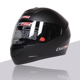 Wholesale Ls2 Winter - LS2 Full Helmet Winter Keep Warm Helmet Detachable Lined Safe Driving Protect Helmet Cool Black Men Safe Hat