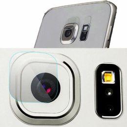 2019 vidrio trasero galaxy s6 Teléfono lente de la cámara trasera HD protector de pantalla para galaxy S8 plus S7 S6 edge cámara trasera lente de vidrio Protector Película DHL libre BFM007 vidrio trasero galaxy s6 baratos
