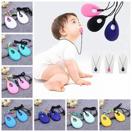 Wholesale Infant Toddler Training - Silicone Teeth Necklaces Baby Teether Toys Food Grade Soft Teething BPA Free Toddler Infant Tooth Training Chewing Molars Pendant YYA317
