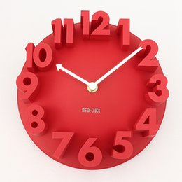 Wholesale Art Wall Round Clock - Wholesale-High Quality Innovative and Unique 3D Home Decor Fashion Modern Art Decorative Dome Round Wall Clock Watch