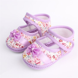 Wholesale Crochet Loops - Baby Shoes Summer Floral First Walkers Toddler Kids Girls Knitting Crib Shoes Crochet Prewalker Baby First Walkes 0-18 M