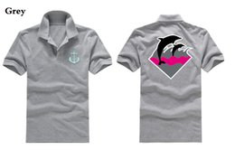 Wholesale Pink Dolphin T Shirt Xl - C8009733J free shipping mens fashion 2017 Pink dolphin Polo T-Shirts Casual Fitness Skate Swag marcelo color black bule red