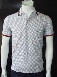 Wholesale Mens Designer Polo Shirts - 2016 Italy Designer Summer Mens Polos Breathable Cotton Mens T-shirts Polo for Boys Sports T-Shirt Black Grey M-3XL